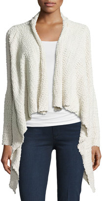 Bobeau Textured Waterfall Sweater, Cream $49 thestylecure.com