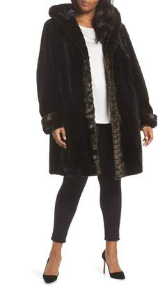 Gallery Hooded Faux Fur Coat