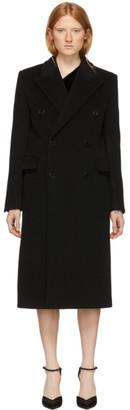 Saint Laurent Black Wool Double-Breasted Coat