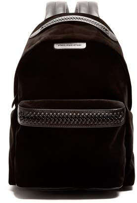 Stella McCartney Falabella Go medium velvet backpack