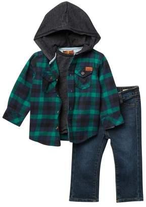 7 For All Mankind Hoodie Shirt, Top, Jeans Set (Baby Boys)