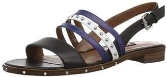 Nine West Women's CHAYLEN Leather Flat Sandal