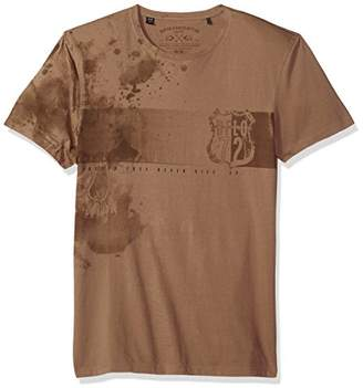 Buffalo David Bitton Men's Tochest Short Sleeve Crew Neck Fashion Graphic T-Shirt