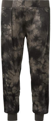 ATM Anthony Thomas Melillo Tie-dyed Crinkled Silk-charmeuse Tapered Pants - Black