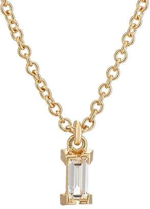 Ileana Makri Women's Baguette White Diamond Pendant Necklace