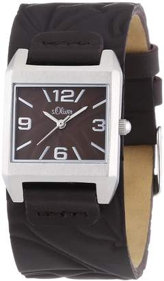 S'Oliver Women's Quartz Watch SO-2790-LQ with Leather Strap