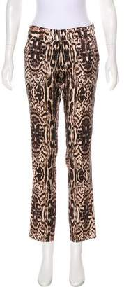 Thomas Wylde Silk Mid-Rise Pants