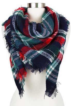 Women's Plaid Blanket Wrap Scarf - Sylvia Alexander $24.99 thestylecure.com