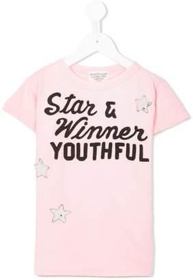 Denim Dungaree embroidered T-shirt