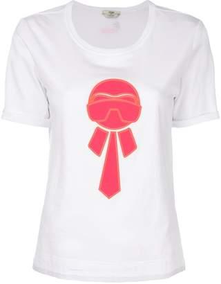 Fendi Karlito-appliqué T-shirt