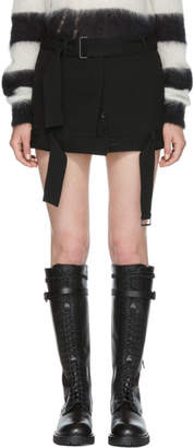 Ann Demeulemeester Black Belted Miniskirt