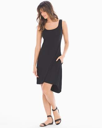 Soft Jersey Hi-Lo Tank Dress Black