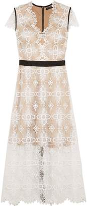 Catherine Deane Garland Macrame Lace Midi Dress