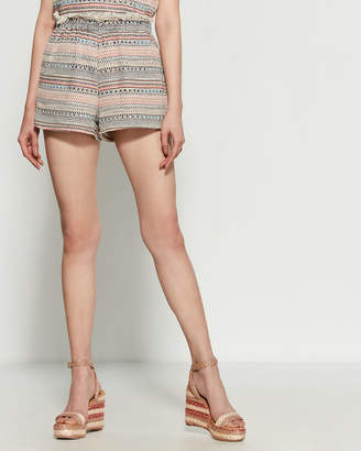 1 STATE Tweed Pull-On Shorts