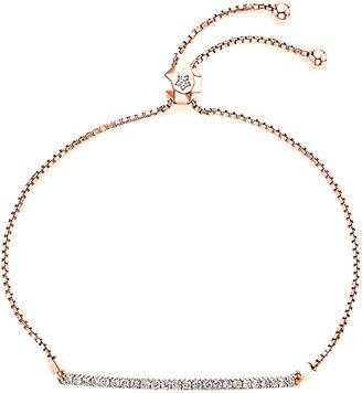 LeVian Suzy Diamonds Suzy 14K Rose Gold 0.55 Ct. Tw. Diamond Bolo Bar Bracelet