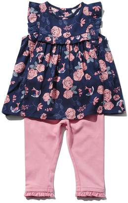 M&Co Rose frill top and leggings set