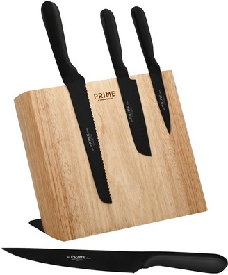 ... Chicago Cutlery Prime By 5 Pc. Magnetic Black Oxide Knife Block Set
