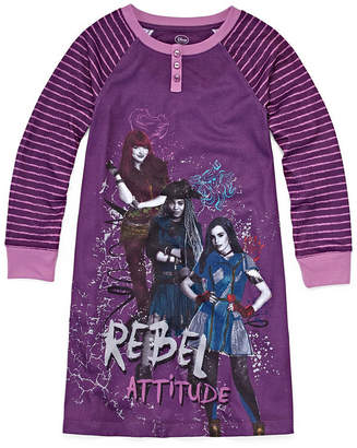 Disney Girls Knit Nightshirt Descendants Long Sleeve