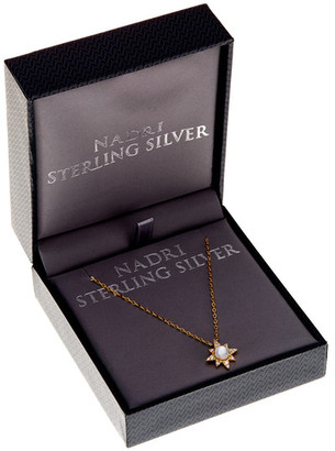 NADRI 18K Gold Plated Sterling Silver CZ White Mother of Pearl Star Pendant Necklace $58 thestylecure.com