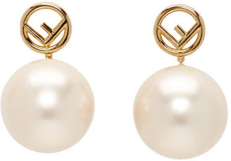 c1da3debbc05 Fendi Gold Pearl F is Earrings