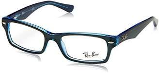 Ray-Ban Boys' 0RY 1530 3667 Optical Frames, (Top Blue Fluo)