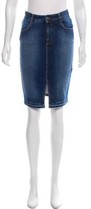 Stella McCartney Knee-Length Denim Skirt