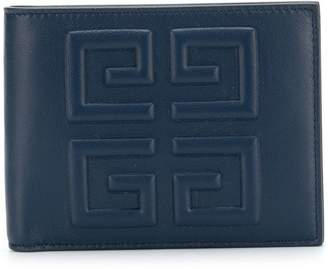 Givenchy embossed logo billfold wallet