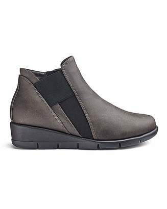 Cushion Walk Wedge Ankle Boots EEE Fit
