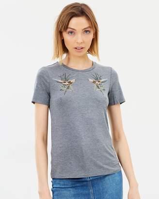Warehouse Embroidered Bird Tee