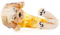 Visconti & Du Reau Shih Tzu Plated Enamel Dog Hug Ring, Size 7
