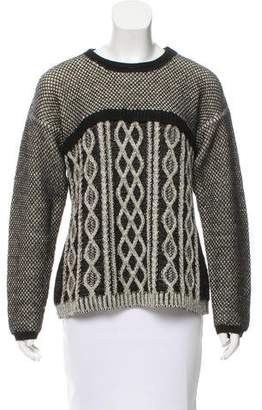 Yigal Azrouel Cable Knit Long Sleeve Sweater