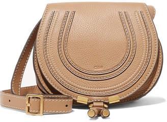 Chloé Marcie Mini Textured-leather Shoulder Bag - Sand