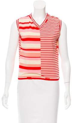 Chanel Sleeveless Striped Top