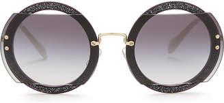 Miu Miu Mu06s round-frame sunglasses