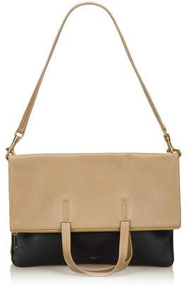 Celine Vintage Leather Folded Cabas