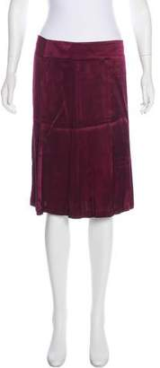 Theory Satin A-Line Skirt