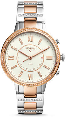 Fossil Hybrid Smartwatch - Virginia Two-Tone Stainless Steel