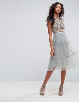 Needle & Thread Sundaze Embellished Tulle Midi Dress $293 thestylecure.com