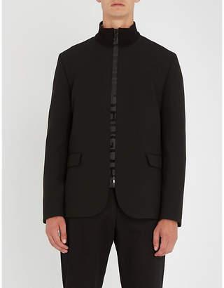 HUGO Stand-collar woven jacket