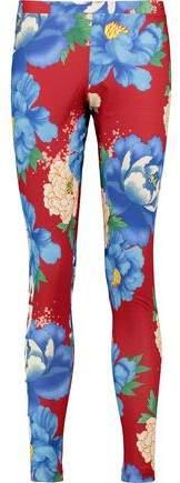 Floral-Print Stretch-Jersey Leggings