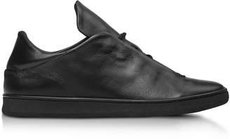 Ylati Virgilio Black Nappa Leather Low Top Men's Sneakers