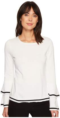 CeCe Tiered Bell Sleeve Pullover Sweater Women's Sweater