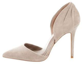 Reiss Pointed-Toe Suede Pumps