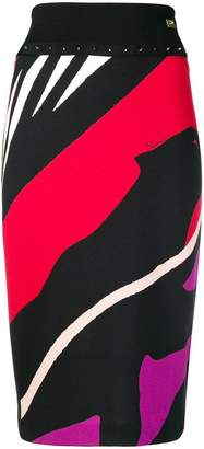 Class Roberto Cavalli striped pencil skirt