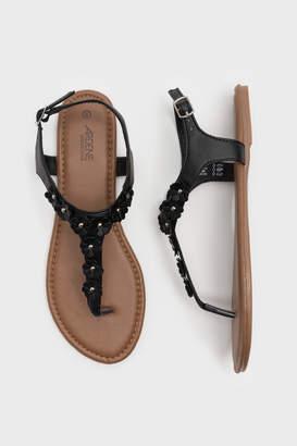 Ardene Flower T-Strap Sandals