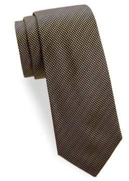 Saks Fifth Avenue Silk Square Dot Tie