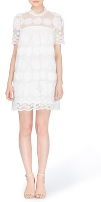 Women's Catherine Catherine Malandrino Mona Embroidered Lace Shift Dress