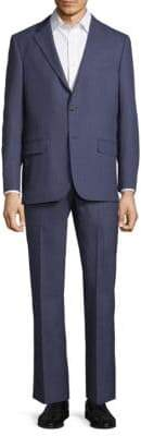 Hickey Freeman Classic Fit Windowpane Wool Suit