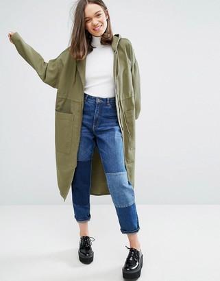 Monki Longline Anorak Jacket $103 thestylecure.com