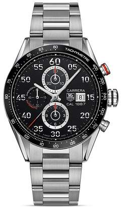 Tag Heuer Carrera Calibre 1887 Automatic Stainless Steel and Ceramic Chronograph Watch, 43mm